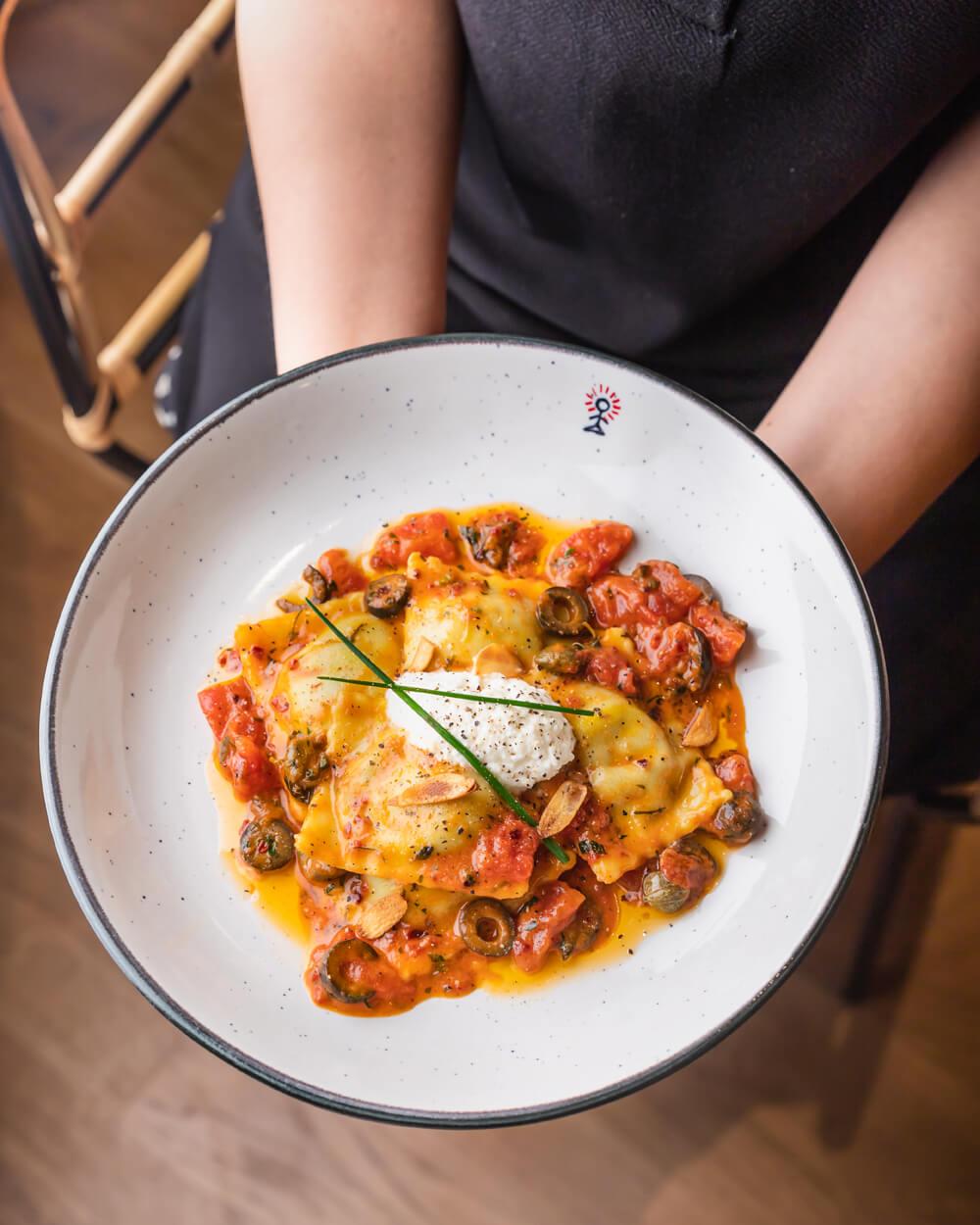 Copy-of-spinach-ricotta-ravioli-with-tomato-putansca